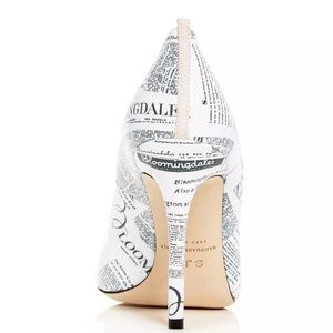 SJP by Sarah Jessica Parker Shoes - 🆕️SJP Fawn Bloomingdale's Newsprint Leather Pumps